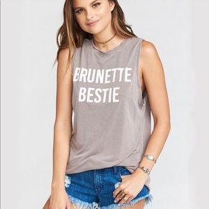 """Mumu """"Brunette Bestie"""" Muscle Tank"""